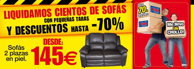Liquidamos cientos de sofás con descuentos hasta 70%.